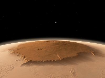 Olympus Mons, Mars, Artwork-Walter Myers-Photographic Print