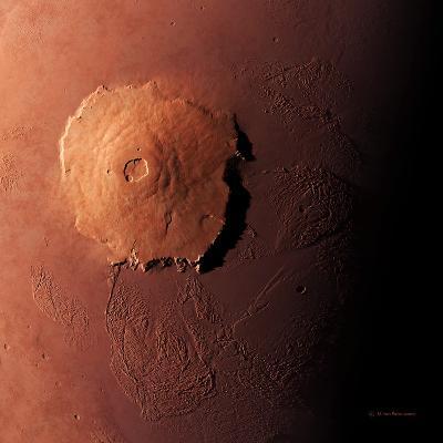 Olympus Mons, Morning View-Detlev Van Ravenswaay-Photographic Print