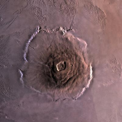 Olympus Mons, the Largest known Volcano in the Solar System-Stocktrek Images-Photographic Print
