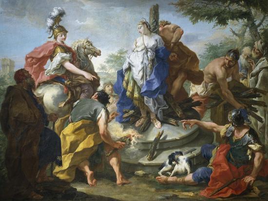 Olynthus and Sophronia-Giovanno Battista Pittoni-Giclee Print