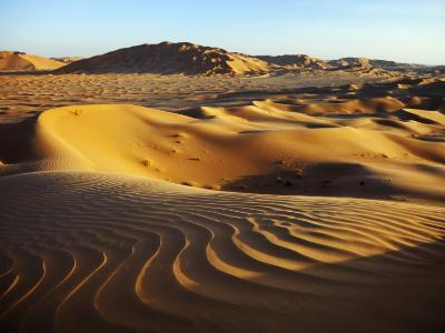 Oman, Empty Quarter; the Martian-Like Landscape of the Empty Quarter Dunes;-Niels Van Gijn-Photographic Print