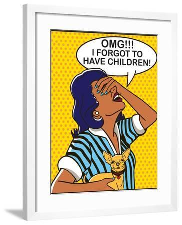 Omg - Yellow Version-Dog is Good-Framed Art Print