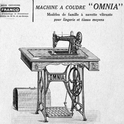 Omnia' Sewing Machines Advertisement, 20th Century--Giclee Print