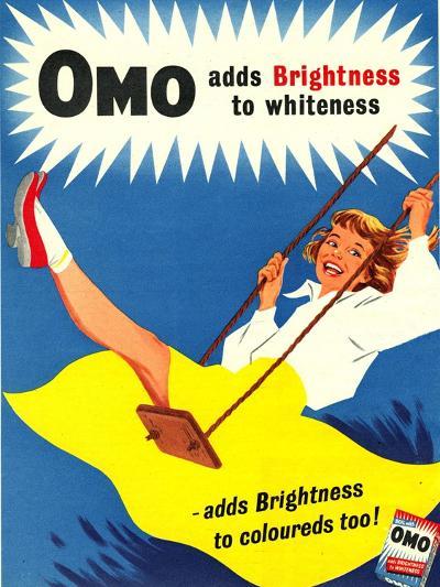 Omo, Washing Powder Products Detergent, UK, 1950--Giclee Print