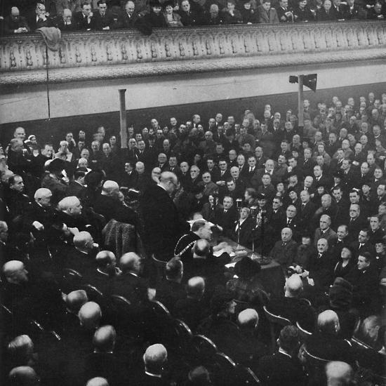 'On 27th January, Mr. Churchill addressed an audience in Free Trade Hall, Manchester', 1913, (1945)-Unknown-Photographic Print