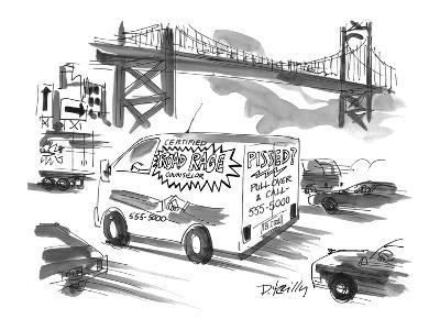 On a busy highway, a van advertises counselling for 'Road Rage' sufferers. - New Yorker Cartoon-Donald Reilly-Premium Giclee Print