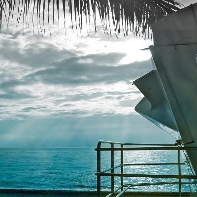 On a Teal Beach II-Jairo Rodriguez-Photographic Print