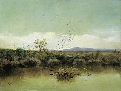 On Banks of Ofanto-Giuseppe De Nittis-Giclee Print