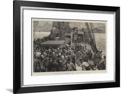 On Board an Emigrant Ship, the Breakfast Bell-Charles Joseph Staniland-Framed Giclee Print