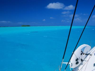On Board 'Milena I', Lagoon 570, Society Islands Archipelago, French Polynesia-Bruno Barbier-Photographic Print