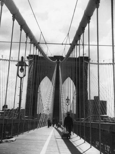 On Brooklyn Bridge-Peter Keegan-Photographic Print