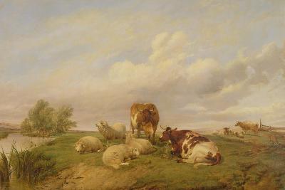 On Canterbury Meadows, 1861-Thomas Sidney Cooper-Giclee Print