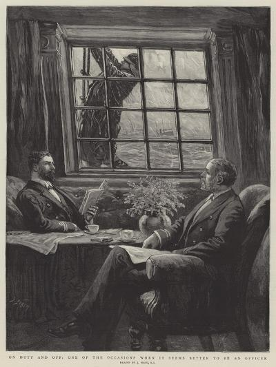 On Duty and Off, One of the Occasions When it Seems Better to Be an Officer-Joseph Nash-Giclee Print