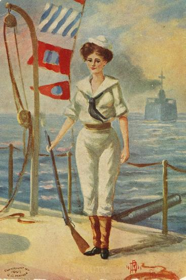 On Duty-G.C. Mather-Giclee Print