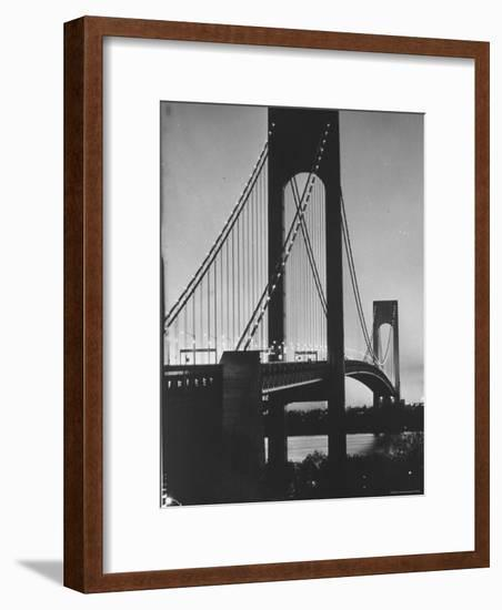 On Eve of Bridge Opening, Looking from Brooklyn to Staten Island-Dmitri Kessel-Framed Photographic Print