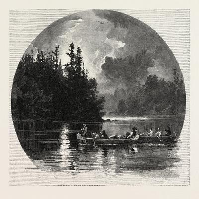 On French River, Canada, Nineteenth Century--Giclee Print