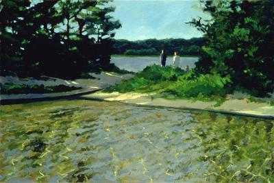 On Gull Pond-Sarah Butterfield-Giclee Print