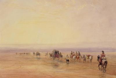 On Lancaster Sands, Sunset (Crossing Lancaster Sands) C.1835-David Cox-Giclee Print