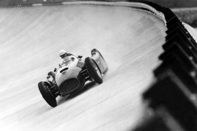 On Monza Circuit, Qualifying Round for Cars for the Grand Prix Which Take Place on Sept 2, 1955--Photo