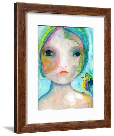 On My Shoulder-Wyanne-Framed Premium Giclee Print