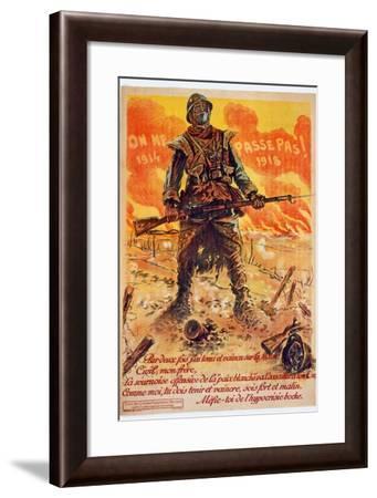 On Ne Passe Pas, 1914-1918, C.1918-Maurice Louis Henri Neumont-Framed Giclee Print