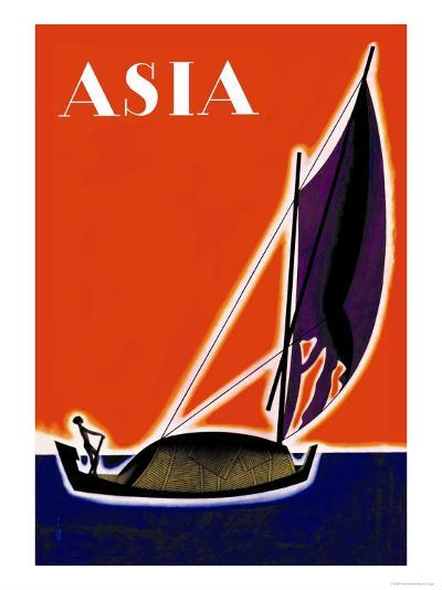 On One of the Seven Seas-Frank Mcintosh-Art Print