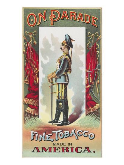 On Parade Brand Tobacco Label-Lantern Press-Art Print