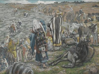 On Return from Jerusalem it Is Noticed That Jesus Is Lost from 'The Life of Our Lord Jesus Christ'-James Jacques Joseph Tissot-Giclee Print
