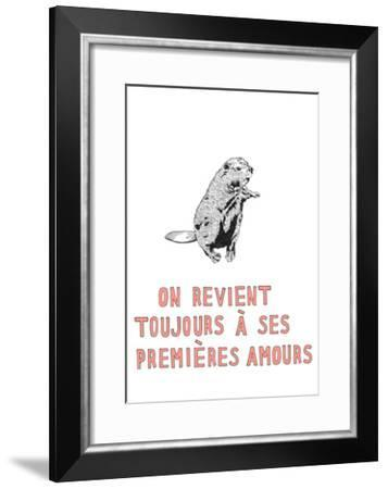 On Revient Toujours a ses Premieres Amours-Natasha Marie-Framed Premium Giclee Print