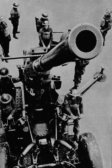 On target! - A 3.7 inch gun detachment at battle practice, 1943-Unknown-Photographic Print