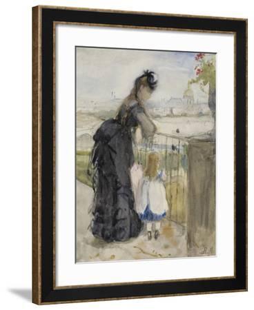 On the Balcony, 1871-72-Berthe Morisot-Framed Giclee Print