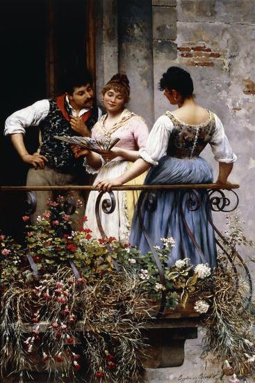 On the Balcony, 1889-Eugen Von Blaas-Giclee Print