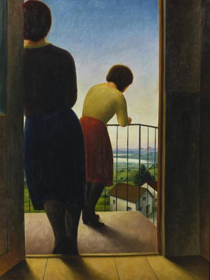 On the Balcony, 1927-Georg Schrimpf-Giclee Print