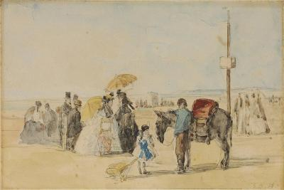 On the Beach, 1866-Eug?ne Boudin-Giclee Print