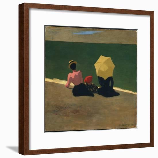 On the Beach, 1899-F?lix Vallotton-Framed Giclee Print