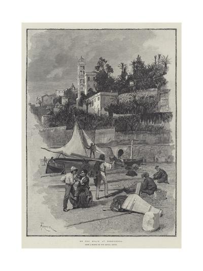 On the Beach at Bordighera-Amedee Forestier-Giclee Print