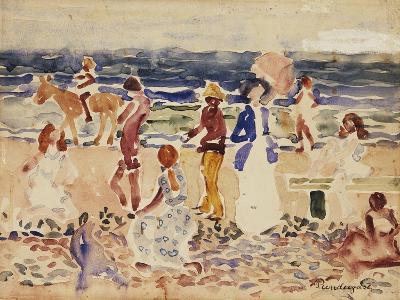 On the Beach, C.1920-23-Maurice Brazil Prendergast-Giclee Print