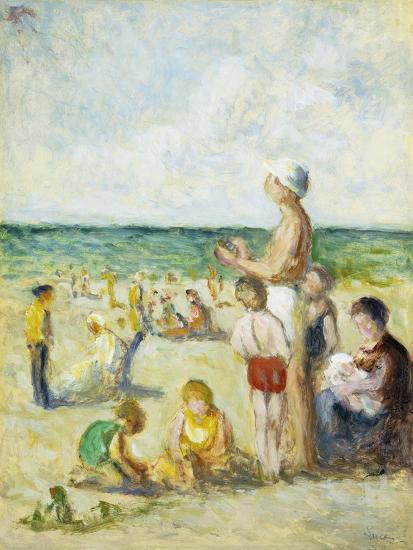 On the Beach in Normandy; Sur La Plage En Normandie, C.1930--Giclee Print