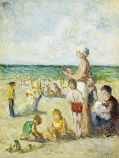 On the Beach in Normandy-Maximilien		 Luce-Giclee Print