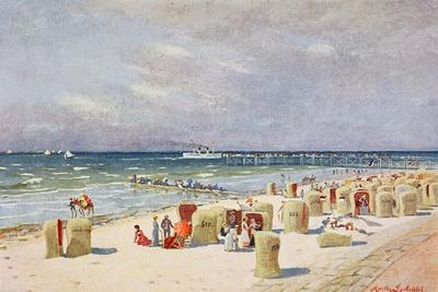 On the Beach on Norderney--Giclee Print