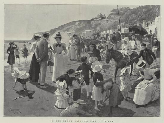 On the Beach, Sandown, Isle of Wight-Amedee Forestier-Giclee Print
