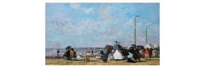 On the Beach, Trouville-Eug?ne Boudin-Giclee Print