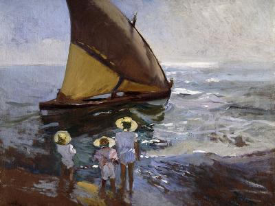 On the Beach, Valencia-Joaqu?n Sorolla y Bastida-Giclee Print