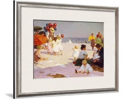 On the Beach-Edward Henry Potthast-Framed Giclee Print