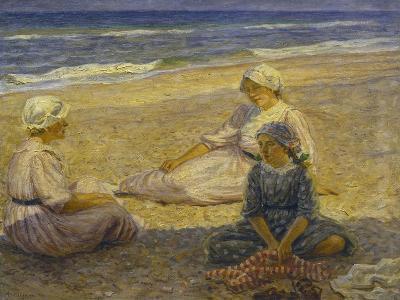 On the Beach-Johannes Martin Fastings Wilhjelm-Giclee Print
