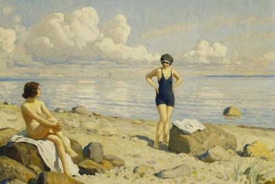 On the Beach-Paul Fischer-Giclee Print