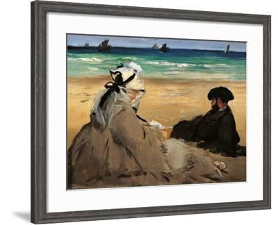 On the Beach-Edouard Manet-Framed Art Print