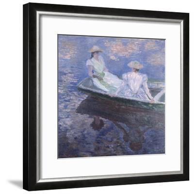 On the Boat, 1887-Claude Monet-Framed Giclee Print