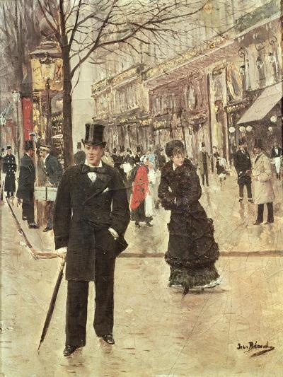 On the Boulevard-Jean B?raud-Giclee Print