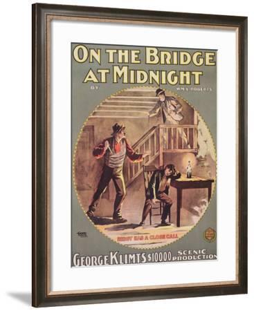 On the Bridge at Midnight, C.1900--Framed Giclee Print